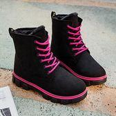雪靴 雪地靴女馬丁短靴短筒平底棉鞋