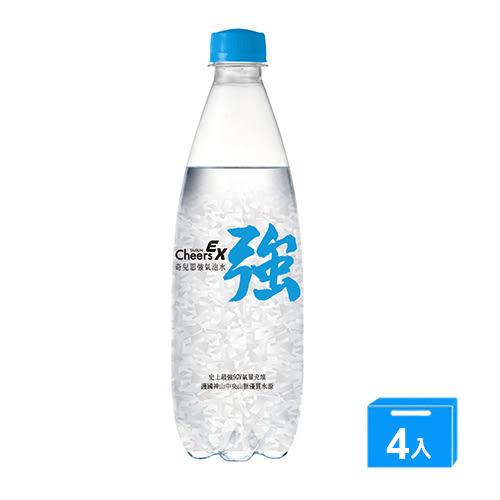 CHEERSEX強氣泡水500ml x 4【愛買】