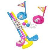 〔小禮堂〕Hello Kitty 高爾夫球玩具組《粉.旗子》適合3歲以上孩童.沙灘玩具 4971413-01464