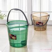 大號透明手提桶加厚塑料洗衣桶洗車清潔收納水桶耐摔家用手提水桶 DR2876  【Rose中大尺碼】