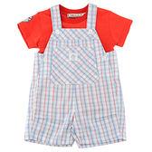 【愛的世界】純棉圓領短袖背心褲套裝/1歲-台灣製- ★春夏套裝