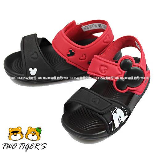 ADIDAS Disney AltaSwim I 紅/黑色 米奇 魔鬼氈 涼鞋 小童鞋 NO.Y0921