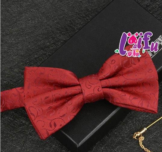 ★依芝鎂★k1027領結色織花朵紋高檔領結結婚新郎領結表演糾糾,售價150元