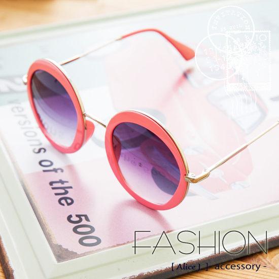 正韓俏皮復古圓框太陽眼鏡墨鏡-6色