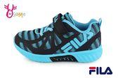 FILA 運動鞋 男童 反光系列 輕量慢跑鞋O7638#黑藍◆OSOME奧森童鞋