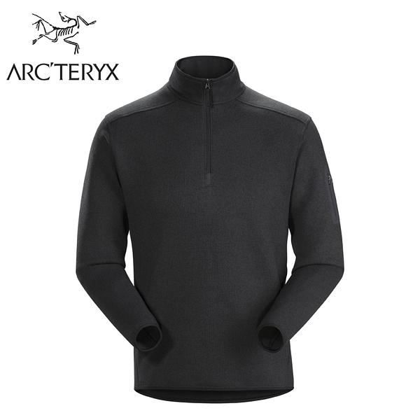 【ARC'TERYX 始祖鳥 男 Covert 1/2刷毛套頭衫《黑灰》】24093/刷毛內層/保暖中層衣/立領衫