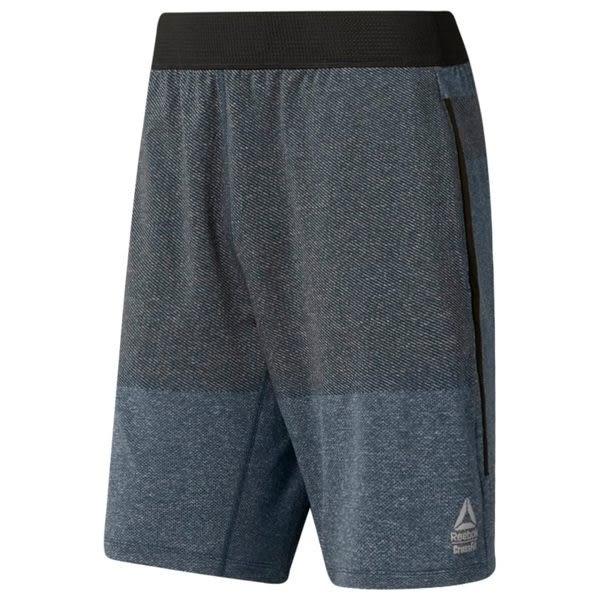 REEBOK CROSSFIT® MYOKNIT SHORTS 男裝 慢跑 訓練 鬆緊 速乾 排汗 舒適 透氣 藍 灰【運動世界】DP4570