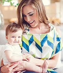 iae創百市集 美國Mothers Lounge Udder Cover 美型哺乳巾/哺乳遮罩-藍綠山紋