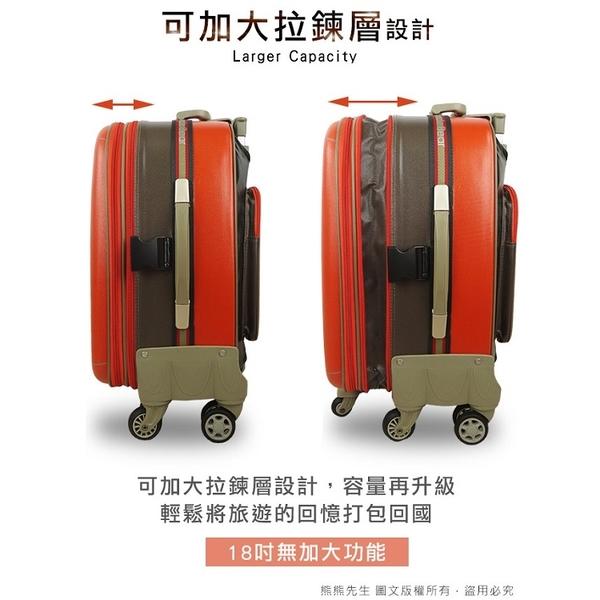 《熊熊先生》UNCLE BEAR 熊熊叔叔 台灣製 行李箱 24吋 防潑水 旅行箱 附TSA鎖