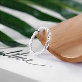 戒指開口食指戒指女日韓潮人個性閨蜜清新關節學生簡約細飾品尾戒