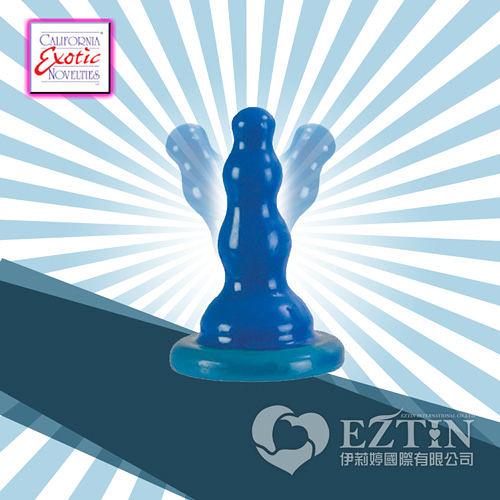 【伊莉婷】美國 CEN Sassy Bendi Ridge 龍脊 強力吸盤 彈性柔軟 後庭肛塞 藍色