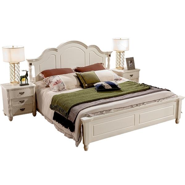 【千億家居】美式實木雙人床(六尺床台)LK110/五尺雙人床架/臥室床組/六尺床組