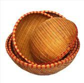 手工竹編蔬果籃洗菜籃瀝水籃竹編饅頭筐面包籃晾曬竹籃竹制收納籃igo  寶貝計畫