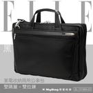 ELLE HOMME 公事包 多拉鍊袋夾層設計 筆電側背包 黑色 EL-74166A 得意時袋