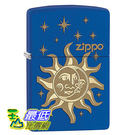 [104 美國直購] Zippo Pocket Lighter Royal Blue Matte Sun and Moon Pocket Lighter 打火機
