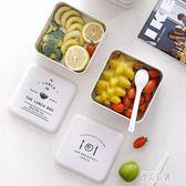 便當盒簡約成人便攜日式飯盒上班族微波爐雙層午餐盒健身餐盒套裝cp1497【優品良鋪】
