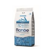 寵物家族-[買就送試吃包x6]MONGE瑪恩吉-天然呵護成犬低卡(鮭魚)12kg