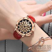 手錶女時尚潮流石英錶 時來運轉時裝錶皮帶防水休閒韓版學生女錶