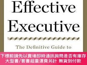 二手書博民逛書店The罕見Effective Executive:The Definitive Guide to Getting