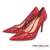 Tino Bellini 巴西進口精緻鏤空雕花藝術尖楦跟鞋 _ 紅 A83041A 歐洲進口款