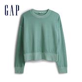 Gap女裝 棉質落肩袖休閒上衣 544873-層疊藍色