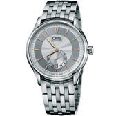 ORIS 豪利時 Artelier 藝術家小秒針機械手錶-40mm 0162375824051-0782173