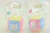尼德斯Nydus   製嬰兒Baby 用品兔兔熊熊鈴鐺玩具方塊棉質約10x10 cm