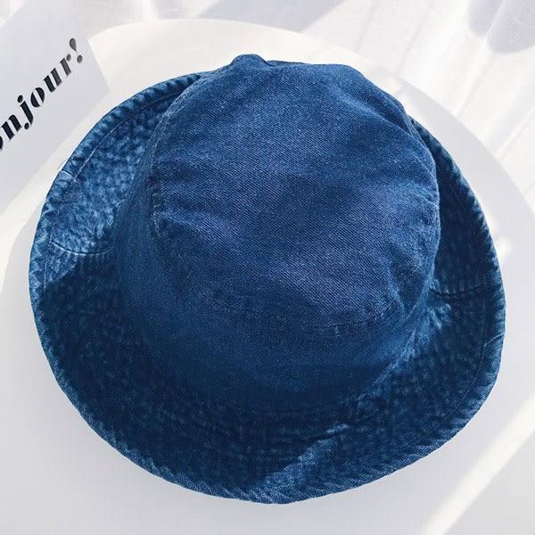 [現貨] 牛仔布漁夫帽 遮陽帽 太陽帽 盆帽 素色 素面 防曬 穿搭 配件 C2075 OT SHOP