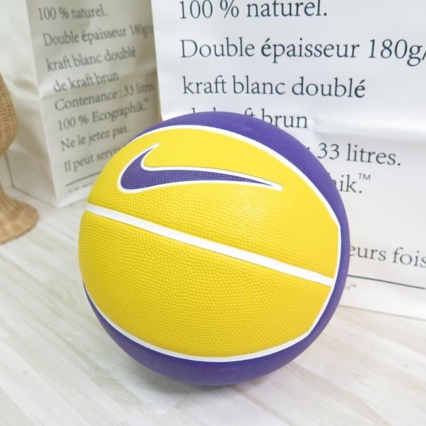 NIKE LEBRON PLAYGROUND 4P 七號籃球 278472807 籃球 紫黃【iSport愛運動】
