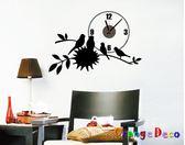 壁貼【橘果設計】溫馨家庭 靜音壁貼時鐘 不傷牆設計 牆貼 壁紙裝潢