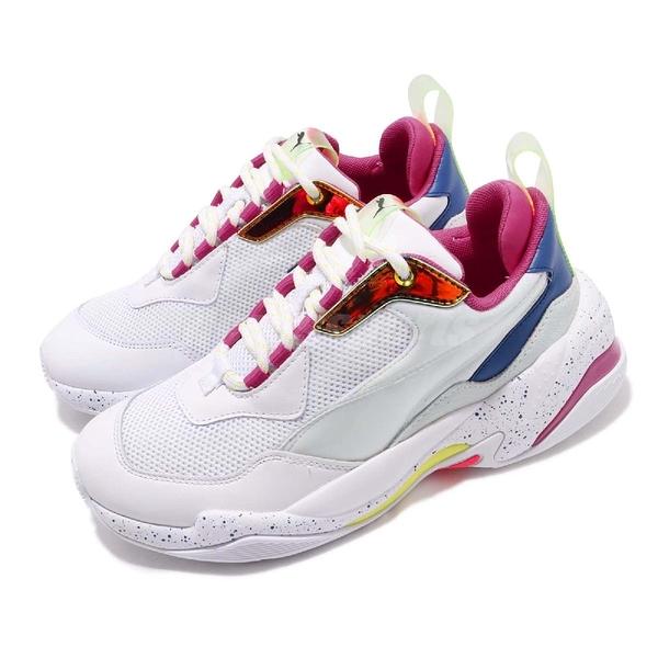 【六折特賣】Puma 老爹鞋 Thunder Space 白 彩色 復古慢跑鞋 皮革鞋面 運動鞋 女鞋【ACS】 37076802