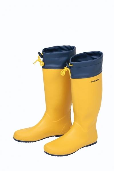 [好也戶外]CAPTAIN STAG 經典軟式休閒膠靴(男女通用款)/黃-深藍 No.UX-2534 No.UX-2533 No.UX-2532