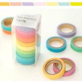手撕彩色紙膠帶 可寫字 盒裝(1組10色) 橘魔法 Baby magic 現貨 文具 紙膠帶 膠帶 童趣