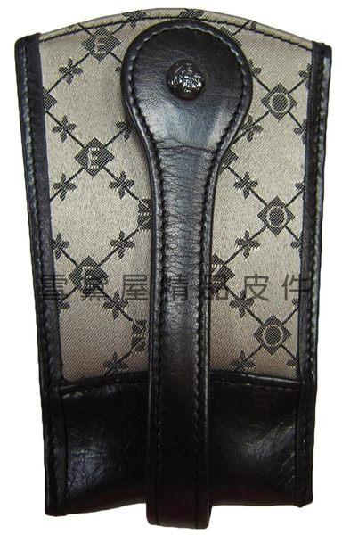 ~雪黛屋~ZODENCE 鑰匙包進口專櫃單支鑰匙包100%進口牛皮革+防水緹花布可固定於腰帶上Z4S1242