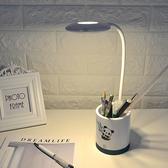 卡通收納筆筒檯燈 LED 鋁管 多功能 USB充電款 觸摸 床頭燈 辦公桌 可愛 觸碰式【M072】慢思行