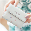 短夾-可愛小碎花朵小清新女皮夾三折板夾女零錢包 AngelNaNa (SMA0267)
