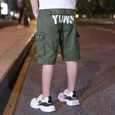 男童夏季短褲新款中大童兒童洋氣工裝七分褲中褲休閒褲子夏天 萬聖節