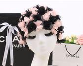 泳帽女長發韓國時尚可愛成人女士不勒頭護耳花朵花瓣溫泉游泳帽布     韓小姐