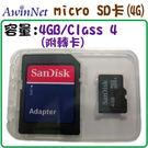 Micro SD 4GB記憶卡(Class4)