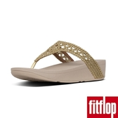 【FitFlop】LOTTIE METALLIC WICKER WEAVE TOE-THONGS(黃金色限時回饋6折