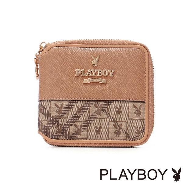 PLAYBOY- Lover Bunny 戀愛小兔系列 零錢夾-榛果咖