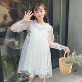 連身裙-夏裝新款套裝小個子蕾絲網紗蓬蓬裙 打底吊帶連衣裙兩件套萌-薇格嚴選