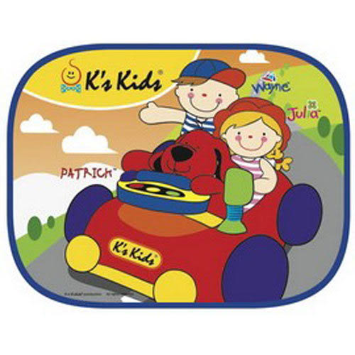 【奇買親子購物網】K's Kids Side Window Sunshade 可愛汽車側窗遮陽板