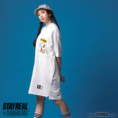 STAYREAL X PEANUTS Let's play連帽長版T