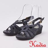 kadia.舒適牛皮涼鞋(0108-90黑色)