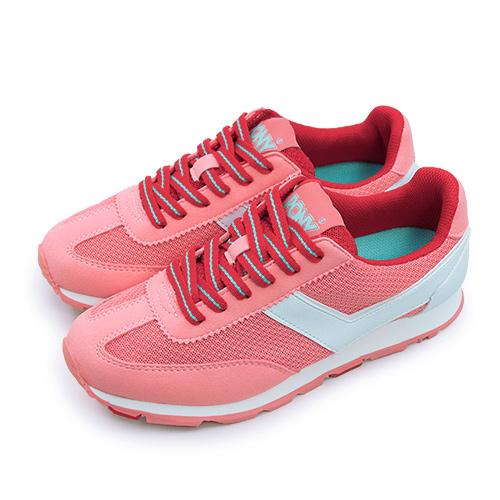 LIKA夢 PONY 繽紛韓風復古慢跑鞋 SOHO 繽紛靚麗系列 桃粉藍 61W1SO70PM 女 6折好康