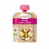 【愛吾兒】法國 Babybio 有機蘋果洋梨纖果泥 6個月以上適用