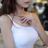 桃園百貨 吊帶背心女士白色打底衫短款內搭 背心女