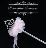 魔法棒玩具套裝手杖女孩兒童公主喜歡生日禮物仙女棒絲帶皇冠 蜜拉貝爾