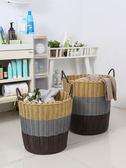特大號塑料髒衣籃洗衣簍裝衣物籃子浴室放髒衣服桶玩具框收納筐婁【快速出貨免運】